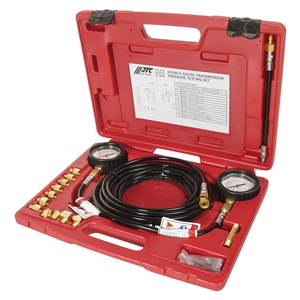 Тестер давления масла КПП с двумя манометрами в кейсе JTC-4250